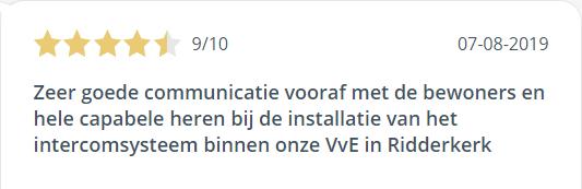 Intercominstallatie review